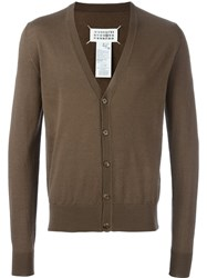 Maison Martin Margiela Classic Knit Cardigan Brown