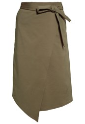 Kiomi Wrap Skirt Brown Light Brown