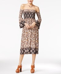 American Rag Printed Off The Shoulder Midi Dress Only At Macy's Lotus Combo
