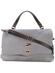 Zanellato Studded Detail Tote Women Leather One Size Grey