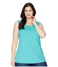 Aventura Clothing Plus Size Pilar Tank Top Baltic Sleeveless Blue