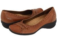 Hush Puppies Burlesque Tan Leather Women's Slip On Shoes