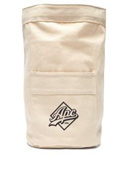 A.P.C. Canvas Drawstring Backpack White