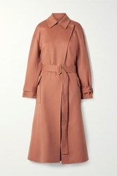Loro Piana Belted Cashmere Trench Coat Antique Rose