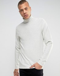 Produkt 100 Cotton Knitted Roll Neck Jumper Cloud Dancer White