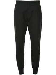 Hope Tailored Cuffed Trouser Polyester Spandex Elastane Wool Black