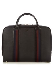 Paul Smith City Webbing Leather Briefcase Black Multi