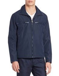 Andrew Marc New York Astoria Moto Jacket Blue
