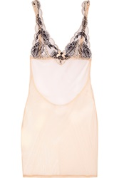 Agent Provocateur Dani Leavers Lace And Tulle Chemise