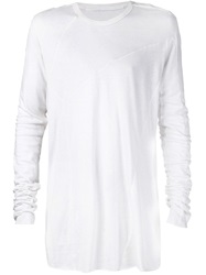 Julius Oversized Long Sleeve T Shirt White