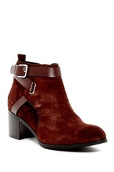 Charles David Gianni Buckle Strap Bootie Red