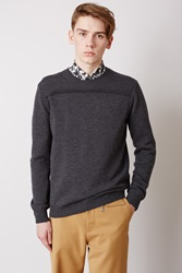 Opening Ceremony Rib Band Crewneck Charcoal