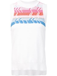 Peter Pilotto Geometric Knitted Sleeveless Top White