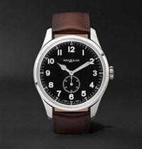 Montblanc 1858 Automatic 44Mm Stainless Steel And Leather Watch Unknown
