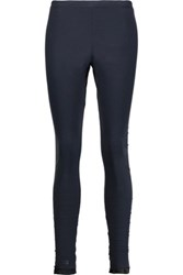 Y 3 Adidas Reversible Cotton Blend Leggings Midnight Blue