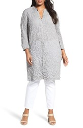 Eileen Fisher Plus Size Women's Puckered Organic Cotton Blend Tunic