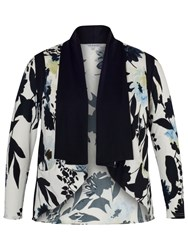Chesca Floral Print Shrug Ivory Ink