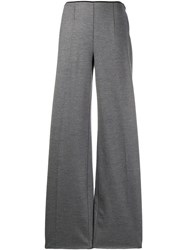 Forte Forte Flared Mid Rise Trousers Grey