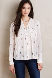 Maeve Larkin Buttondown Neutral Motif