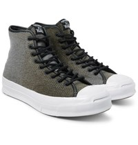 Converse Woolrich Jack Purcell Signature Wool High Top Sneakers Army Green