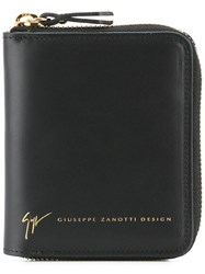 Giuseppe Zanotti Design Zip Around Wallet Black