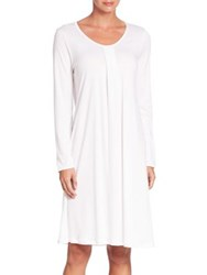 Hanro Alessia Long Sleeve Gown Off White