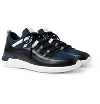 Tod's No Code Neoprene And Leather Sneakers Navy