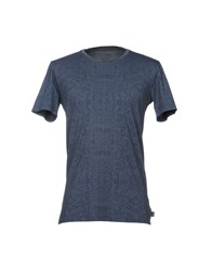 Care Label T Shirts Slate Blue