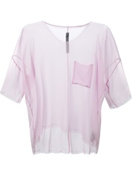 Raquel Allegra Sheer T Shirt Blouse Pink And Purple