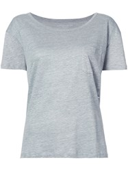 Majestic Filatures Relaxed Fit T Shirt Women Linen Flax 1 Grey