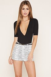 Forever 21 Croc Print High Waisted Shorts