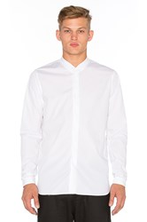 Stampd Rib Collar Dress Shirt White