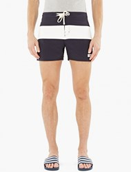 Saturdays Surf Nyc Navy Striped Grant Boardshorts