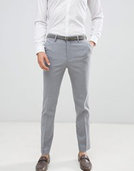 New Look Smart Slim Trousers In Grey