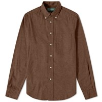 Gitman Brothers Vintage Button Down Classic Flannel Shirt Brown