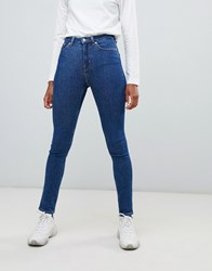 Weekday Thursday High Waist Skinny Jeans Win Blue