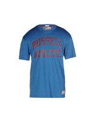 Russell Athletic Topwear T Shirts Men Turquoise