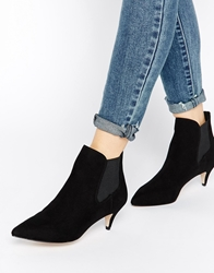 Asos Redchurch Kitten Heel Ankle Boots Black