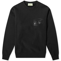 Aries Temple Logo Crew Sweat Black
