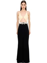 David Koma Cutout Cady Gown With Mirrors