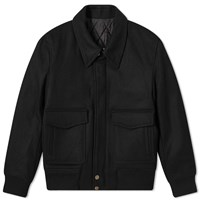 Ami Alexandre Mattiussi Zipped Wool Jacket Black