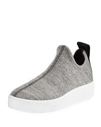 Rag And Bone Orion Knit Terry Slip On Platform Sneakers Grey