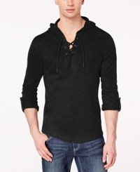 Inc International Concepts I.N.C. Men's Hooded T Shirt Created For Macy's Deep Black