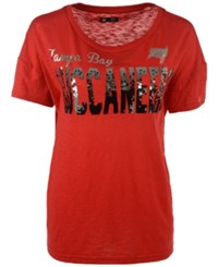 G3 Sports Women's Tampa Bay Buccaneers In The Game Sequin T Shirt Red