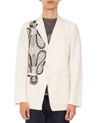 Dries Van Noten Bilboa Embroidered Jacket Tan
