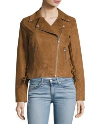 Marc New York Farryn Faux Suede Moto Jacket Brown