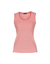 Anne Claire Anneclaire Tank Tops Red