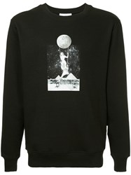 Les Benjamins Rapai Photo Print Sweatshirt Black