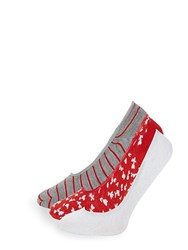 Juicy Couture Three Pack Classic No Show Socks Red