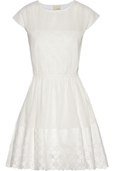 Band Of Outsiders Lace Trimmed Cotton Gauze Dress